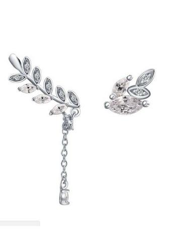 Vivere Rosse silver Vivere Rosse Flora Stud Earrings VI014AC81VPMMY_1