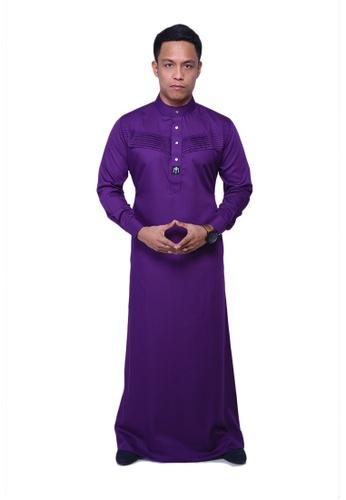 Maribeli Butik purple MB Man Jubah Qhalees 04 Dark Violet Purple MA905AA26LURMY_1