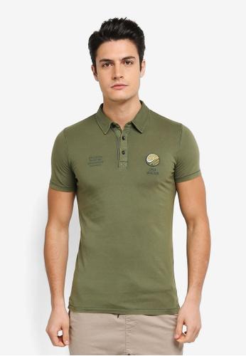 ESPRIT green Short Sleeve Polo Shirt ES374AA0T18SMY_1