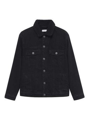 MANGO KIDS grey Shearling Denim Jacket 2BC96KA2A5ABA9GS_1