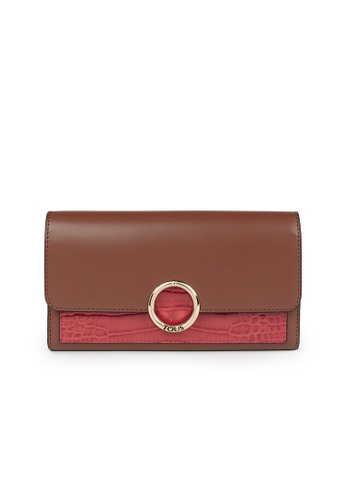 Tous pink and brown TOUS Medium Brown and Pink Audree Wallet 7BE49ACC55058EGS_1