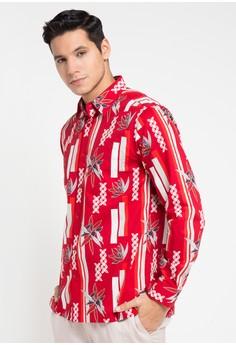 Bateeq red Long Sleeve Cotton Cotton Shirt 8C813AA4FCA7D7GS 1 93015aa2d3
