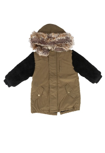 GLOBAL WORK green Mixed Winter Jacket 33727KAEAA4CD1GS_1