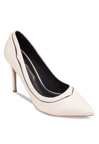 拼色尖zalora 衣服尺寸頭高跟鞋, 女鞋, 厚底高跟鞋