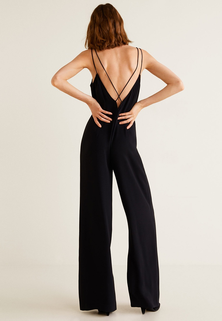 Jumpsuit Black Mango Long Mango Wrap Wrap wP4gWIOIq