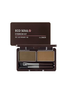 Saem Eco Soul Eyebrow Kit - Natural Brown