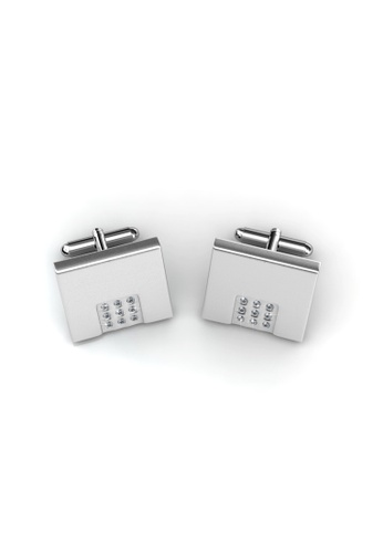 Her Jewellery silver Her Jewellery Mr Matt 2 Cufflinks (Square) with Premium Grade Crystals from Austria BD7B6AC1F282EAGS_1