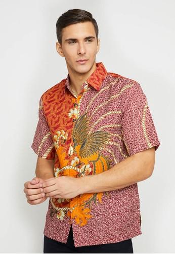 Batik Wibowo red Lusambo Batik Shirt EA311AADAAD9B5GS_1