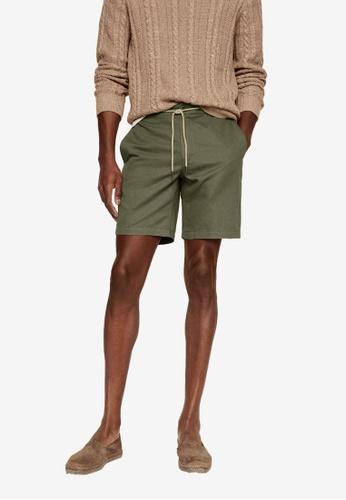 MANGO Man beige Drawstring Cotton Linen Bermuda Shorts 87B18AA4FF3A4EGS_1