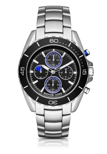 MICHAEL KORS silver Jetmaster Chronograph Watch MI248AC0K94WPH_1