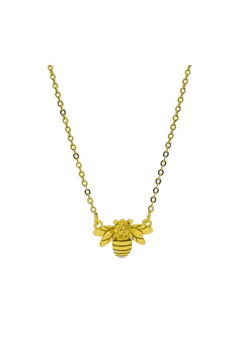 LYCKA gold LDR1227 S925 Silver Cute Bees Necklace 01EFAAC2B8725FGS_1