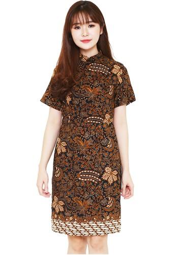 Flike Batik brown Cheongsam Dress Dragem Katresnan 31B2AAA7B48E7BGS_1