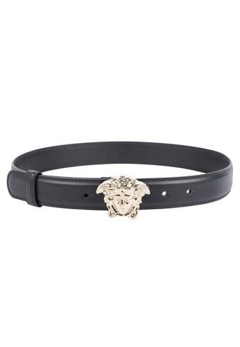 Versace black Versace De Piel La Medusa Belt in Black C3F86AC6B5E906GS_1