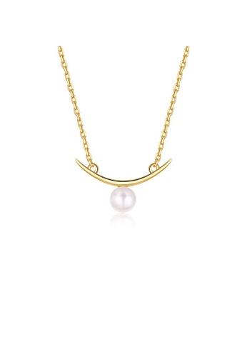 SUNSET gold Premium 925 Sliver Pearl Necklace B7FB8AC9242304GS_1