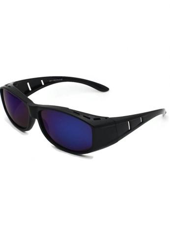 jojo black Classic Fitover Cut-Out Polarized Sunglasses 27796GL8ED0946GS_1