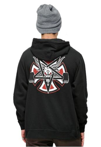 520f5b8c1075 Thrasher black Thrasher x Independent Pentagram Cross Hoodie Black  8F461AAF6B75ECGS_1