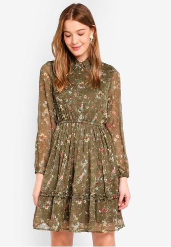 Vero Moda green Nanna Dress FB6F6AAFB4EAF0GS_1