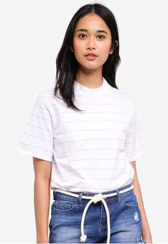 Penshoppe white Relaxed Fit Tee 375C3AA0A7C986GS_1