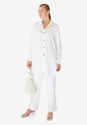 Trendyol white Shirt & Bottom Set 12436AA8C01D11GS_1