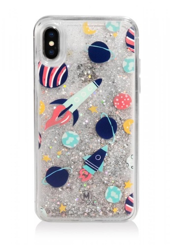 detailed look 87347 f0551 PATTERN LAB - LIQUID GLITTER CASE FOR IPHONE X - SPACE