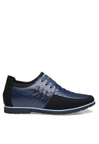 Twenty Eight Shoes 藍色 皮革內增高休閒鞋 VM3598 26E15SH5FBD757GS_1