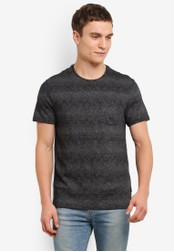 Burton Menswear London grey Grey Herringbone Jacquard T-Shirt BU964AA0S9QKMY_1