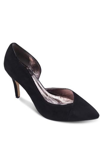 側鏤空尖頭高跟鞋, zalora 男鞋 評價女鞋, 鞋