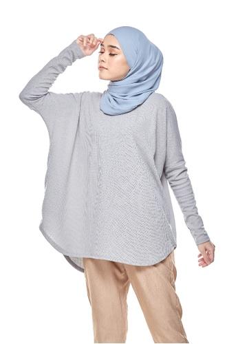 Kaen.co grey Kaen.co Naise Knit Top in Grey Ironless Dress Shirt A8AF6AAA9B4C76GS_1