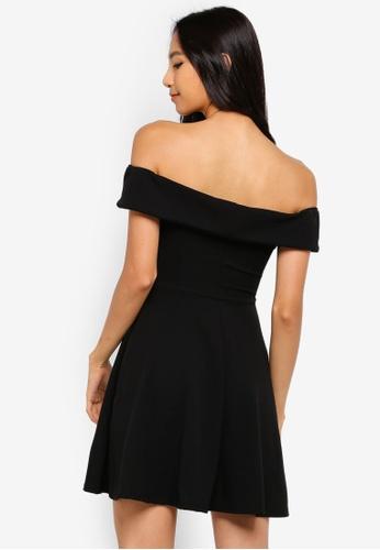 bbcf147566 Buy MISSGUIDED Wrap Bardot Skater Dress Online