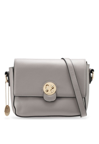 Perllini&Mel grey Faux Leather Sling Bag PE444AC0SJ0FMY_1