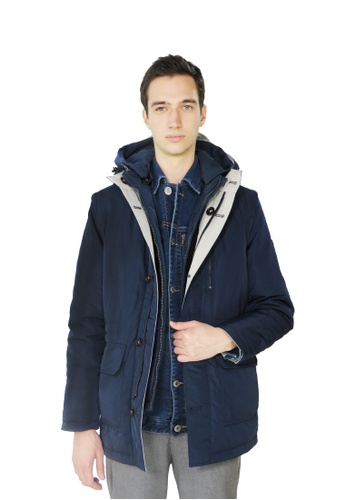 East Pole navy Unisex 18 ways Reversible 2 in 1 Padded Jacket with Down Vest CE3E4AAED3694BGS_1