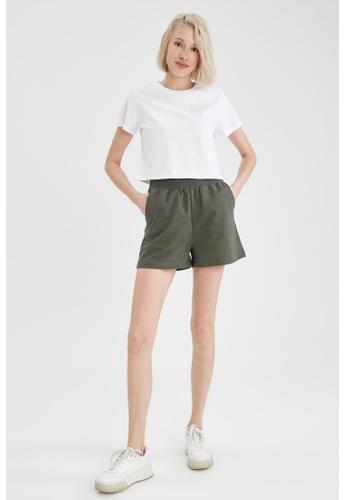 DeFacto green Relax Fit Sweatshirt Short 1C2D0AA5647B88GS_1
