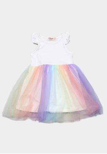 Mini Moley white Rainbow Tulle Girl's Bubble Dress 4E00DKAD2013B2GS_1