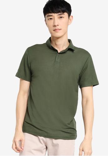 ZALORA BASICS green Soft Pique Polo Shirt F079BAAE3E816CGS_1