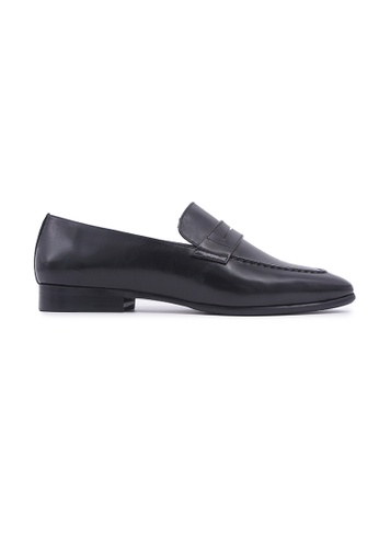 Flatss & Heelss by Rad Russel black Classic Loafer Flats - Black 2A26ESHC1CEB63GS_1