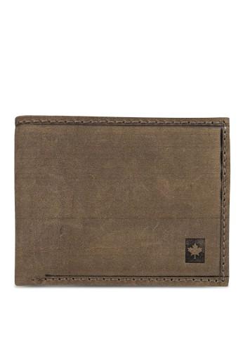 Lumberjacesprit服飾ks 暗紋對折皮夾, 飾品配件, 包