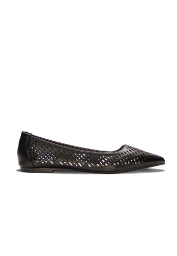 SEMBONIA black SEMBONIA Synthetic Leather Mesh Ballet Flat (Black) SE598SH0RC0WMY_1