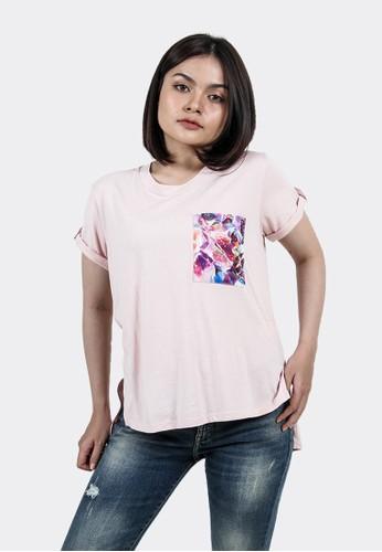 FLIES pink Kaos lengan pendek wanita A12724F PINK E0AA0AA879A4D5GS_1