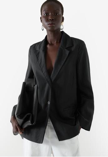 Cos black Tailored Blazer 25454AA312B9AFGS_1