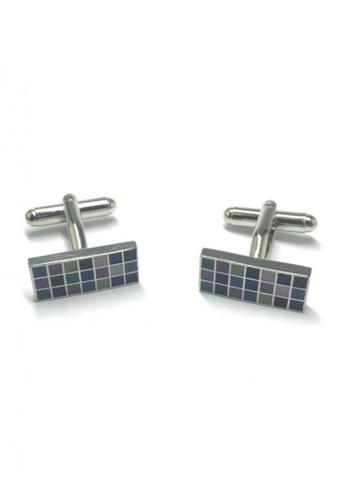 Splice Cufflinks multi Colourful Squares Rectangular Cufflinks 2   SP744AC58DLTSG_1