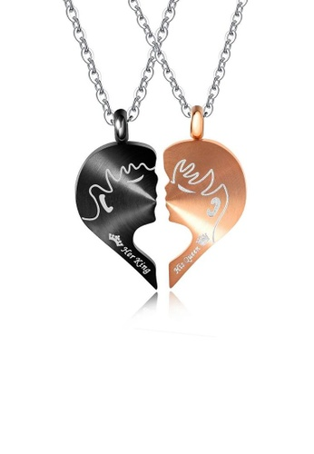 ADORA multi Stainless Steel Couple Necklace 38CEAACEB6A6F0GS_1