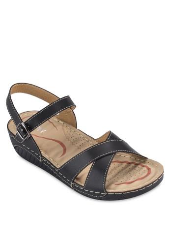 繞esprit 香港踝繫帶舒適涼鞋, 女鞋, 鞋