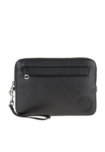 Gucci black GUCCI SOHO LEATHER MENS BAG 858B6AC0ADD914GS_1