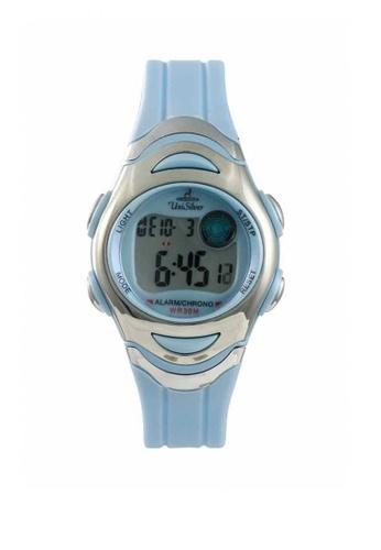 UniSilver TIME blue Men's Transparent Rubber Watch A171FACFCA4C72GS_1