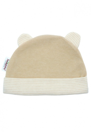 TRENDYVALLEY brown TRENDYVALLEY Organic Cotton Baby Hat (Brown) 59A39KC8BEBF0BGS_1
