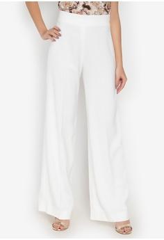 ae51a5b6c27c9 Fatima Beltran Clothing Line white Wide Leg Pants with Side Zipper  1BAF7AA201B165GS 1