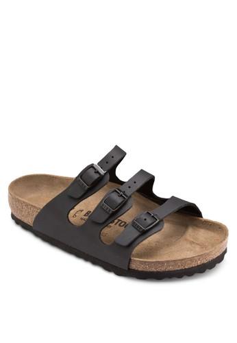 Floresprit分店ida 扣環三帶拖鞋涼鞋, 女鞋, 鞋
