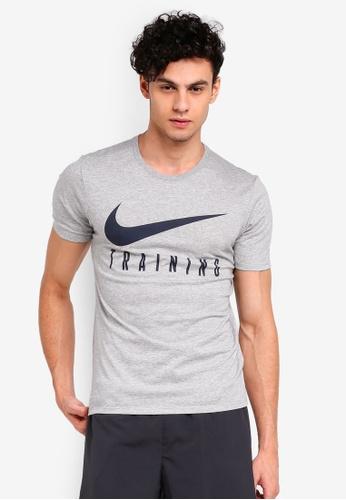Nike grey As M Nike Dry Tee Nike Train 75118AAE11BD73GS_1