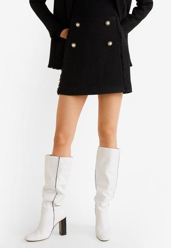 Mango black Tweed Mini Skirt F3893AA42BE012GS_1