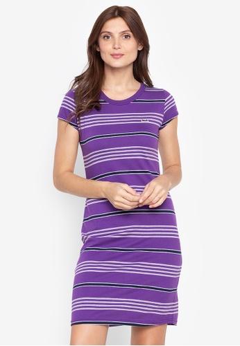 Le Tigre purple Striped Dress CD813AA7168FACGS_1